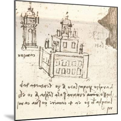 Drawing of projects for castles and villas, c1472-c1519 (1883)-Leonardo da Vinci-Mounted Giclee Print