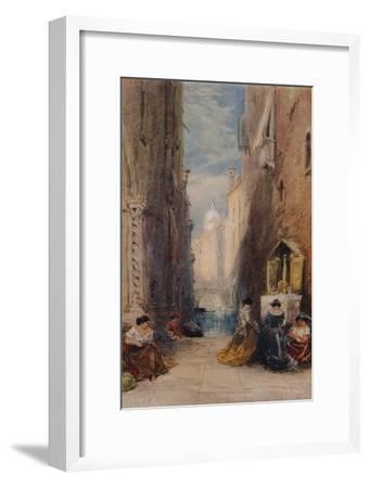 A Shrine In Venice, c1820-1870, (1924)-James Holland-Framed Giclee Print