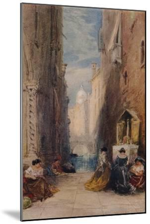 A Shrine In Venice, c1820-1870, (1924)-James Holland-Mounted Giclee Print