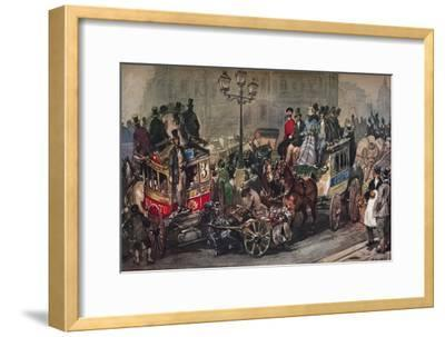 'Traffic Trouble in 50', 19th century-Eugene Louis Lami-Framed Giclee Print
