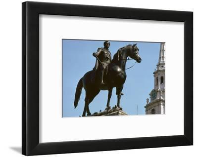 Equestrian Statue of King George IV, 19th century-Francis Legatt Chantrey-Framed Photographic Print