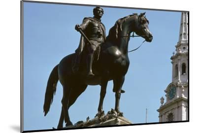 Equestrian Statue of King George IV, 19th century-Francis Legatt Chantrey-Mounted Photographic Print