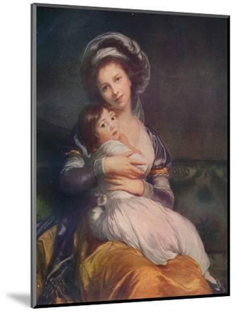 Louise Elisabeth Vigee Le Brun (1755-1842) with her daughter Jeanne-Lucie, 1786, (1911)-Elisabeth Louise Vigee-LeBrun-Mounted Giclee Print