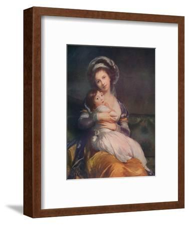 Louise Elisabeth Vigee Le Brun (1755-1842) with her daughter Jeanne-Lucie, 1786, (1911)-Elisabeth Louise Vigee-LeBrun-Framed Giclee Print