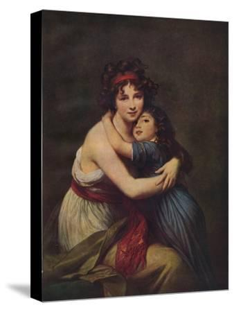Madame Vigee Lebrun and her daughter, Jeanne Lucie Louise, 1789, (1938)-Elisabeth Louise Vigee-LeBrun-Stretched Canvas Print