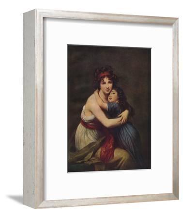 Madame Vigee Lebrun and her daughter, Jeanne Lucie Louise, 1789, (1938)-Elisabeth Louise Vigee-LeBrun-Framed Giclee Print