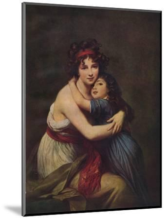 Madame Vigee Lebrun and her daughter, Jeanne Lucie Louise, 1789, (1938)-Elisabeth Louise Vigee-LeBrun-Mounted Giclee Print