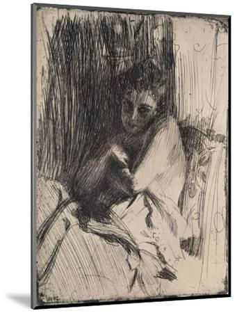 The Model, 1880-1906, (1906)-Anders Leonard Zorn-Mounted Giclee Print