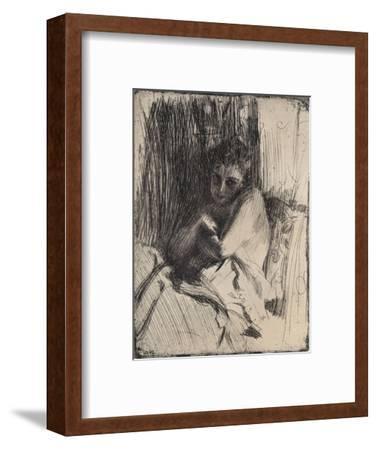 The Model, 1880-1906, (1906)-Anders Leonard Zorn-Framed Giclee Print