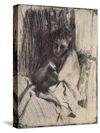 The Model, 1880-1906, (1906)-Anders Leonard Zorn-Stretched Canvas Print
