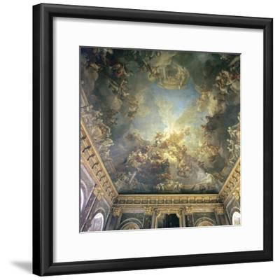 Ceiling of the Salon de Hercules at Versailles, 18th century-Francois Lemoyne-Framed Photographic Print