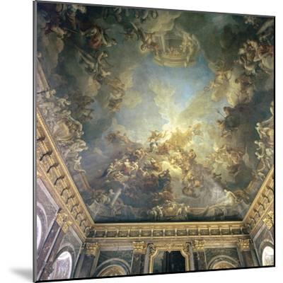 Ceiling of the Salon de Hercules at Versailles, 18th century-Francois Lemoyne-Mounted Photographic Print