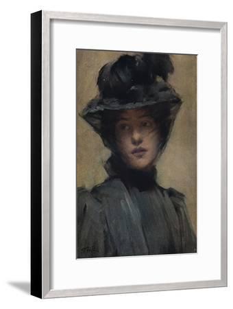 'The Black Veil', c19th century-Samuel Melton Fisher-Framed Giclee Print