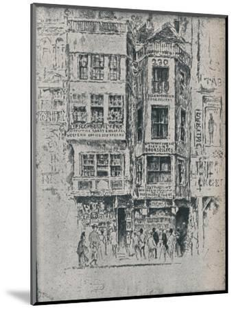 Old Strand Shops, c1900, (1906-7)-Joseph Pennell-Mounted Giclee Print