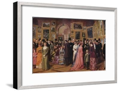 'Private View at the Royal Academy, 1881', 1883 (1935)-William Powell Frith-Framed Giclee Print