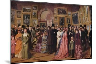 'Private View at the Royal Academy, 1881', 1883 (1935)-William Powell Frith-Mounted Giclee Print