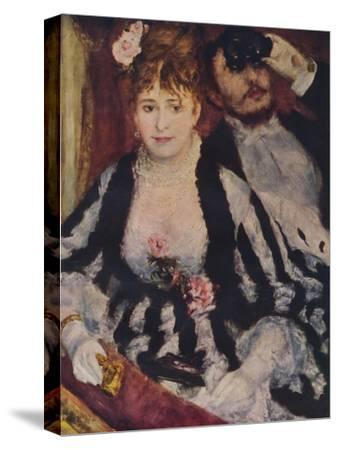 La Loge (The Theatre Box), 1874, (1938)-Pierre-Auguste Renoir-Stretched Canvas Print