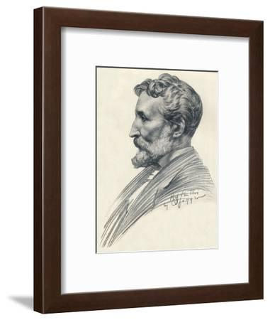 Édouard Lantéri, French-born British sculptor and medallist, c20th century (1914-1915)-Charles Sargeant Jagger-Framed Giclee Print
