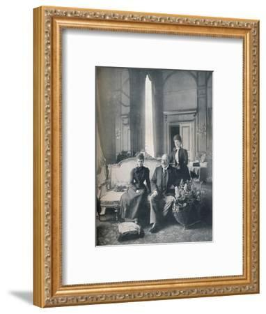 The future King Edward VII and Queen Alexandra in Denmark, 1900 (1911)-Mary Steen-Framed Photographic Print