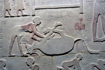 Egyptian relief of the cutting up of a carcass-Unknown-Framed Giclee Print