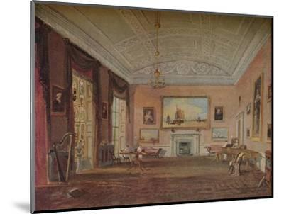 'Drawing Room, Farnley', 1818-JMW Turner-Mounted Giclee Print