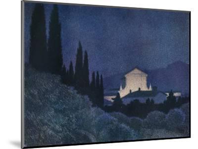 'Sera di Festa', c1930 (1934)-Giuseppe Ugonia-Mounted Giclee Print