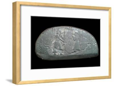The Sumerian 'Blau Tablet', 30th century BC-Unknown-Framed Giclee Print