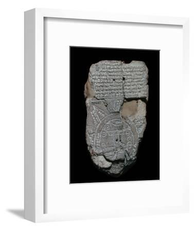 Map of the World, probably from Sippar, southern Iraq, Babylonian, c700-c500 BC-Unknown-Framed Giclee Print