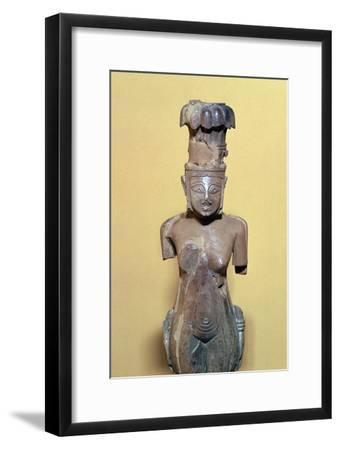 Ivory Phoenician figurine of a woman, 8th century BC-Unknown-Framed Giclee Print