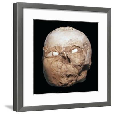 Skull from Jericho, modelled with plaster and shells-Unknown-Framed Giclee Print