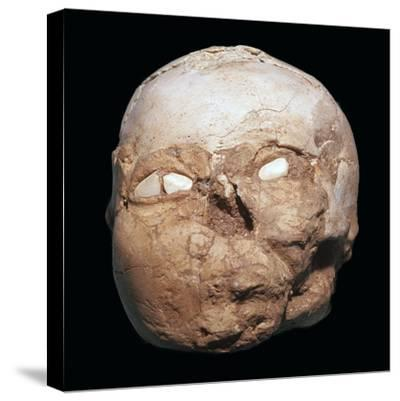 Skull from Jericho, modelled with plaster and shells-Unknown-Stretched Canvas Print