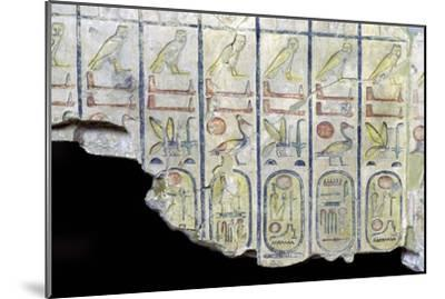 Egyptian limestone slab with the cartouche of Rameses II-Unknown-Mounted Giclee Print