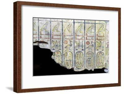 Egyptian limestone slab with the cartouche of Rameses II-Unknown-Framed Giclee Print