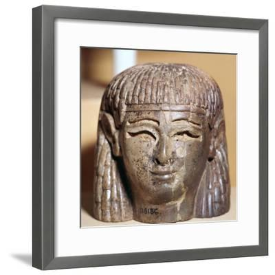 Phoenician ivory head found at the Burnt Palace in Nimrud, 8th century BC-Unknown-Framed Giclee Print