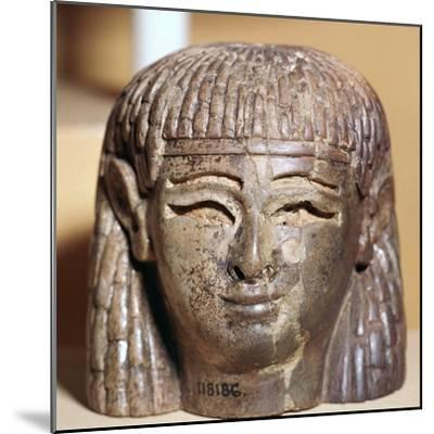 Phoenician ivory head found at the Burnt Palace in Nimrud, 8th century BC-Unknown-Mounted Giclee Print