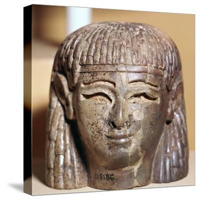 Phoenician ivory head found at the Burnt Palace in Nimrud, 8th century BC-Unknown-Stretched Canvas Print