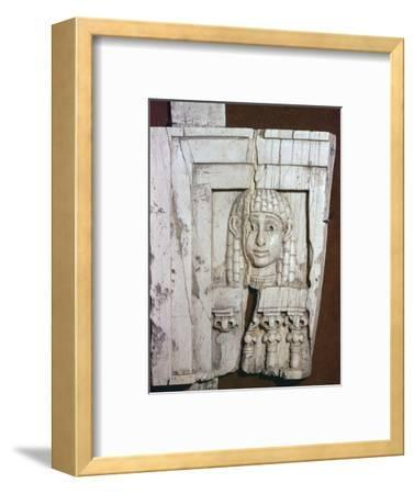 Phoenician ivory of a 'woman at a window', 8th century BC-Unknown-Framed Giclee Print