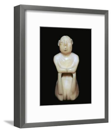 Inuit carving of a human figure, 19th century-Unknown-Framed Giclee Print