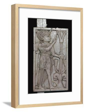 Phoenician ivory panel from a piece of furniture, 8th century BC-Unknown-Framed Giclee Print