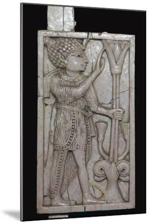 Phoenician ivory panel from a piece of furniture, 8th century BC-Unknown-Mounted Giclee Print