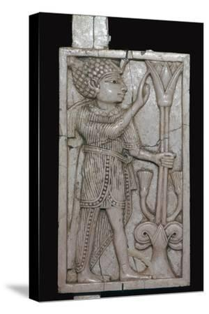Phoenician ivory panel from a piece of furniture, 8th century BC-Unknown-Stretched Canvas Print