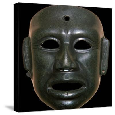 Mayan mask of polished stone-Unknown-Stretched Canvas Print