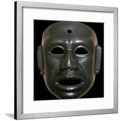 Mayan mask of polished stone-Unknown-Framed Giclee Print