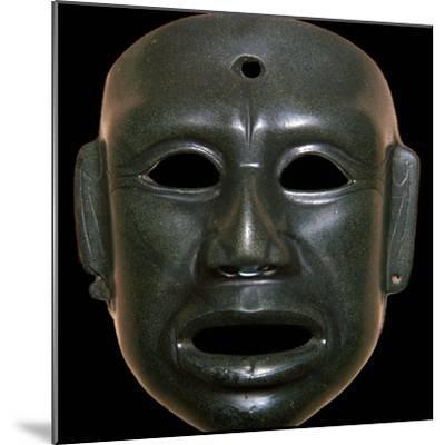 Mayan mask of polished stone-Unknown-Mounted Giclee Print