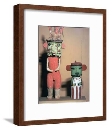 Wooden Hopi Katchina Dolls representing gods-Unknown-Framed Giclee Print