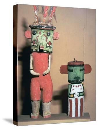 Wooden Hopi Katchina Dolls representing gods-Unknown-Stretched Canvas Print