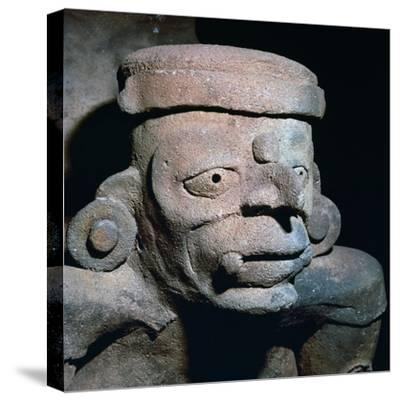 Detail of a Mayan pottery incense burner, 8th century-Unknown-Stretched Canvas Print