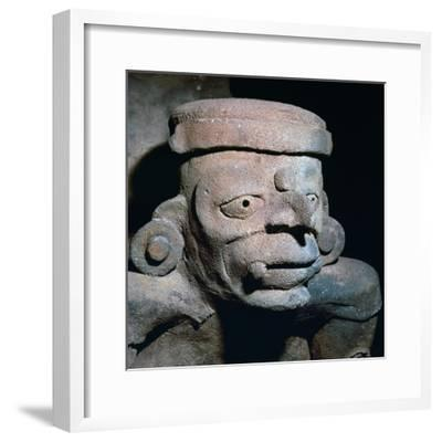 Detail of a Mayan pottery incense burner, 8th century-Unknown-Framed Giclee Print