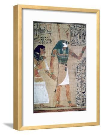 Detail from the Book of the Dead of Ani; sheet 4-Unknown-Framed Giclee Print