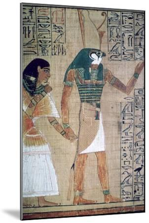 Detail from the Book of the Dead of Ani; sheet 4-Unknown-Mounted Giclee Print